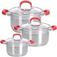 Набор посуды Mayer&Boch 6 предметов 1,5 л, 2,5 л, 3,5 л из нержавеющей стали 29105
