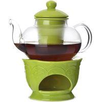 Заварочный чайник Loraine 600 мл с ситом и подставкой для подогрева 800 г 27564