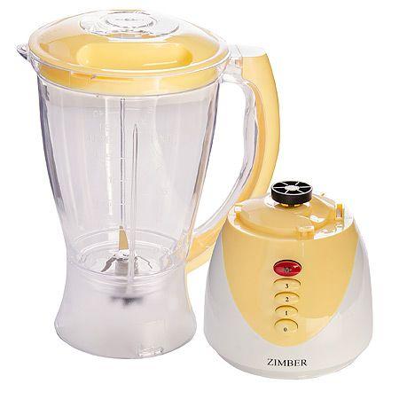 Блендер Zimber 300 Вт с чашей белого и желтого цвета 10112
