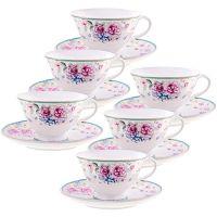 Чайный фарфоровый набор из 12-ти предметов 220 мл «ПРЕМИУМ» LORAINE, 29190