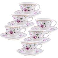 Чайный фарфоровый набор из 12-ти предметов 220 мл «ПРЕМИУМ» LORAINE, 29192
