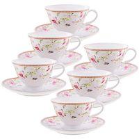 Чайный фарфоровый набор из 12-ти предметов 220 мл «ПРЕМИУМ» LORAINE, 29193