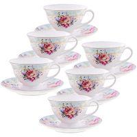 Чайный фарфоровый набор из 12-ти предметов 220 мл «ПРЕМИУМ» LORAINE, 29194