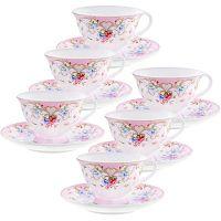 Чайный фарфоровый набор из 12-ти предметов 220 мл «ПРЕМИУМ» LORAINE, 29195