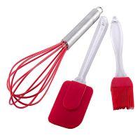 Набор кухонный Mayer&Boch лопатка, кисть и венчик материал силикон цвет красный 29373-3