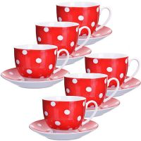 Чайный набор Loraine 12 предметов 220 мл фарфор 25904