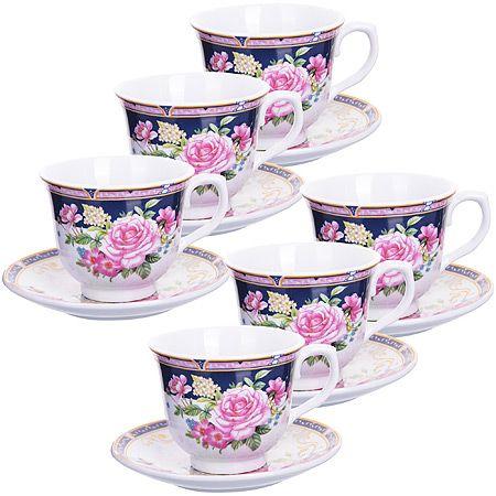 Чайный набор 12 предметов 220 мл фарфор в подарочной упаковке LORAINE, 25783