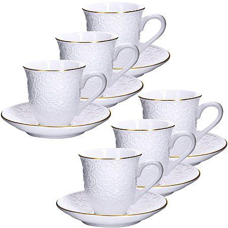 Кофейный набор Loraine 190 мл фарфоровый 25769