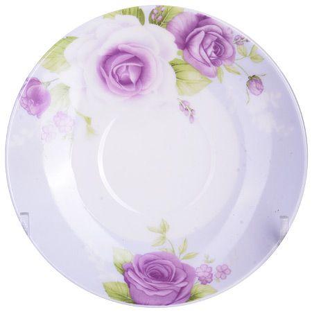 Кофейный набор Loraine чашка с блюдцем цвет белый, фиолетовый, зеленый 25957