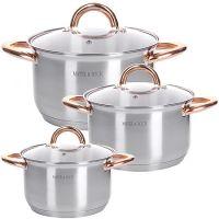 Набор посуды Mayer&Boch 3 предмета 2 л, 2,5 л, 3,5 л с прозрачными крышками 28813