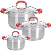 Набор посуды Mayer&Boch 6 предметов 2 л, 2,5 л, 3,5 л 28818