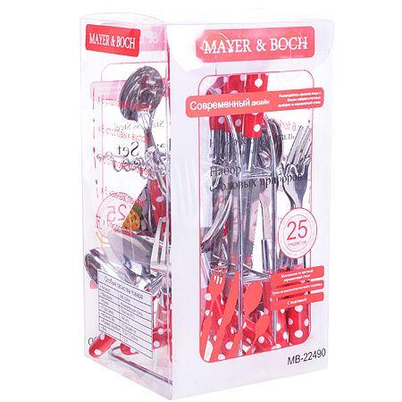 Набор столовых приборов Mayer&Boch 25 предметов цвет красный 22490-2