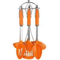 Набор половников Mayer&Boch 7 предметов на подставке цвет оранжевый 28299