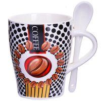 Кружка Loraine «COFFEE» 340 мл с ложкой 28473