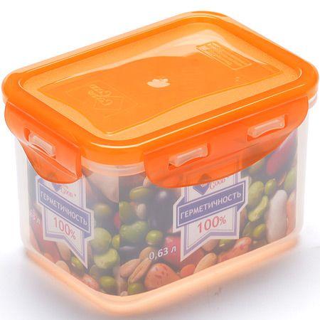 Контейнер пищевой Mayer&Boch пластик 630 мл цветные крышки 02-2-L