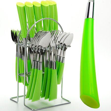 Набор столовых приборов Mayer&Boch 25 предметов на 6 персон салатового цвета 20687-1