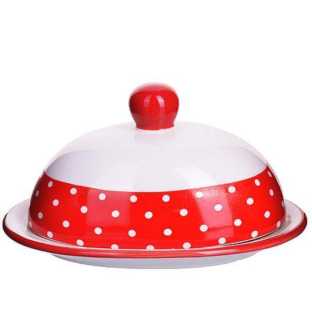 Маслёнка Loraine «Красный узор» 25849