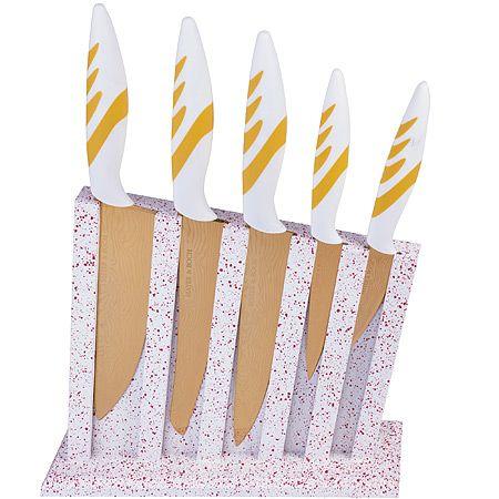 Набор ножей Mayer&Boch по на подставке, ручки из силикона 22715
