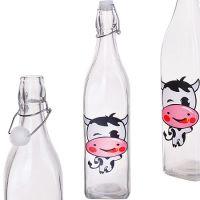 Бутылка Loraine 1 л стекло с крышкой 28176