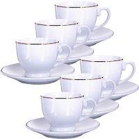 Кофейный набор Loraine чашки 190 мл 6 шт и блюдца 6 шт 25610