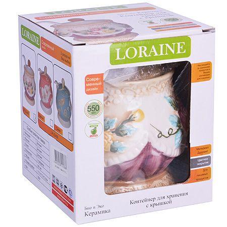 Сахарница Loraine «Розы» с крышкой и ложкой 22440