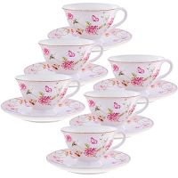 Чайный фарфоровый набор из 12-ти предметов 220 мл «ПРЕМИУМ» LORAINE, 29196