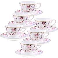 Чайный фарфоровый набор из 12-ти предметов 220 мл «ПРЕМИУМ» LORAINE, 29198
