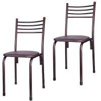 Стул Mayer&Boch «АСОС» из кожи квадратный цвет коричневый 5544-4