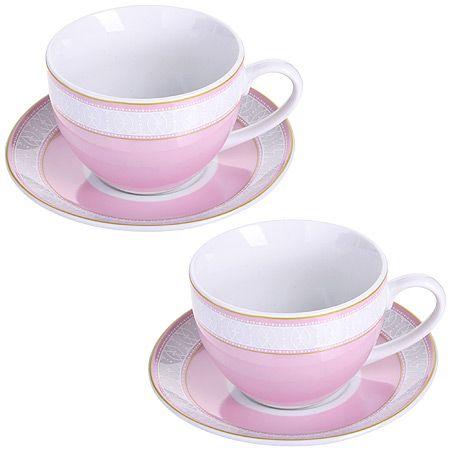 Чайная пара 4 предмета 220 мл LORAINE, MB-28639
