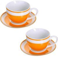 Чайная пара 4 предмета 220 мл LORAINE, MB-28641