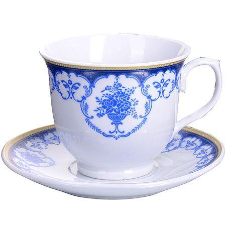 Чайный набор 12 предметов 220 мл фарфор подарочная упаковка LORAINE, MB-28582