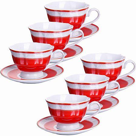 Кофейный набор Loraine 12 предметов 80 мл фарфор 28597