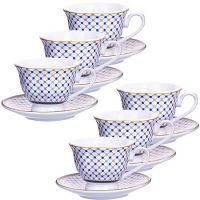 Кофейный набор Loraine из 12 предметов 80 мл фарфор 28601