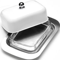 Масленка 3 предмета, нержавеющая сталь, белая, Mayer&Boch, 21378N1