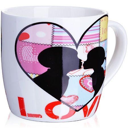 Кружка Loraine 320 мл «I you» 24468