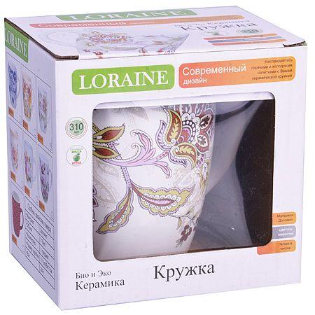 Кружка Loraine 380 мл из керамики 24835