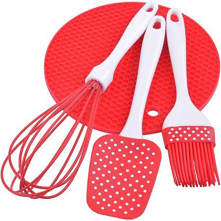 Набор кухонный Mayer&Boch 3 предмета силиконовые цвет красный 28073