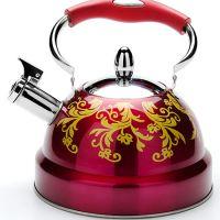 Чайник 2,6 л со стеклянной крышкой с свистком Mayer&Boch, цвет красный, 27545