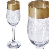Набор бокалов для шампанского Mayer&Boch 6 шт цвет прозрачный с золотистым 160-02