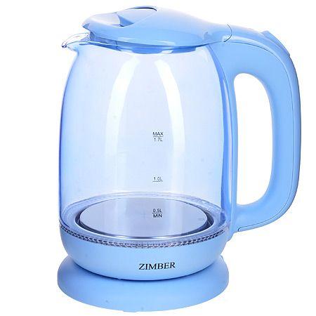 Электрический чайник 1,7 л 2200 Вт с подсветкой ZIMBER, 11241