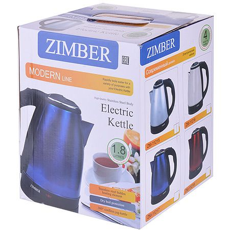 Чайник ZIMBER электрический метал 1,8 л 1,08 кг 11218