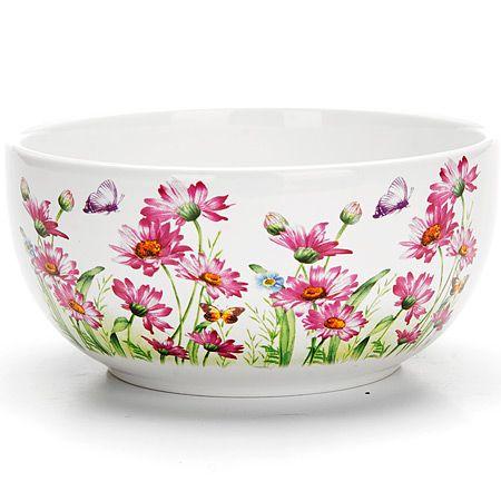 Супница Loraine «Цветы» 580 мл 26239