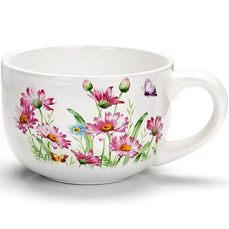 Кружка Loraine «Цветы» 350 мл 26240