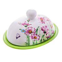 Маслёнка Loraine «Цветы» с крышкой 26248
