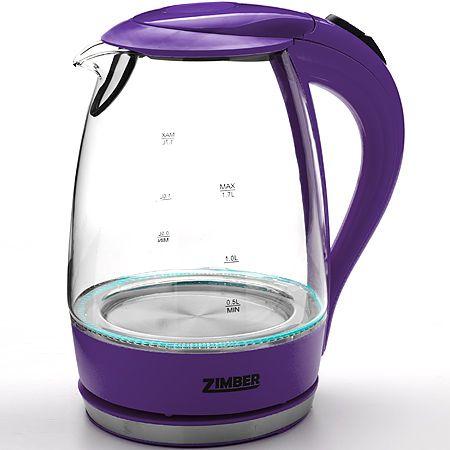 Электрический чайник стекло 1,7л 2200Вт ZIMBER, 11174