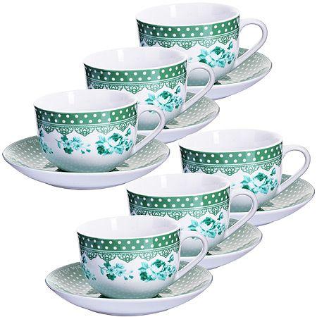 Чайный набор чашка с блюдцем Lorain, 25909