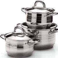 Набор посуды Mayer&Boch 6 шт 2,1 л, 2,1 л, 3,9 л с крышкой 25668
