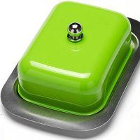 Масленка 3 предмета, нержавеющая сталь, зеленого цвета Mayer&Boch, 21378N4