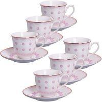 Кофейный сервиз розового цвета 80 мл Lorain, 26437N2