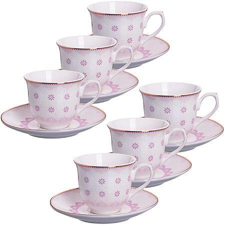 Кофейный сервиз Loraine 80 мл цвет розовый 26437-2